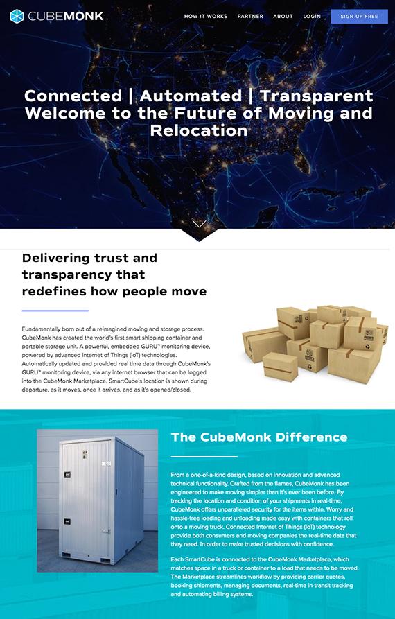 Cubemonk Homepage