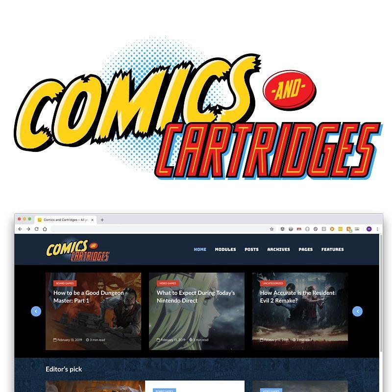 Comics and Cartridges logo