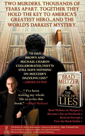 Brad Meltzer Book of Lies ecard