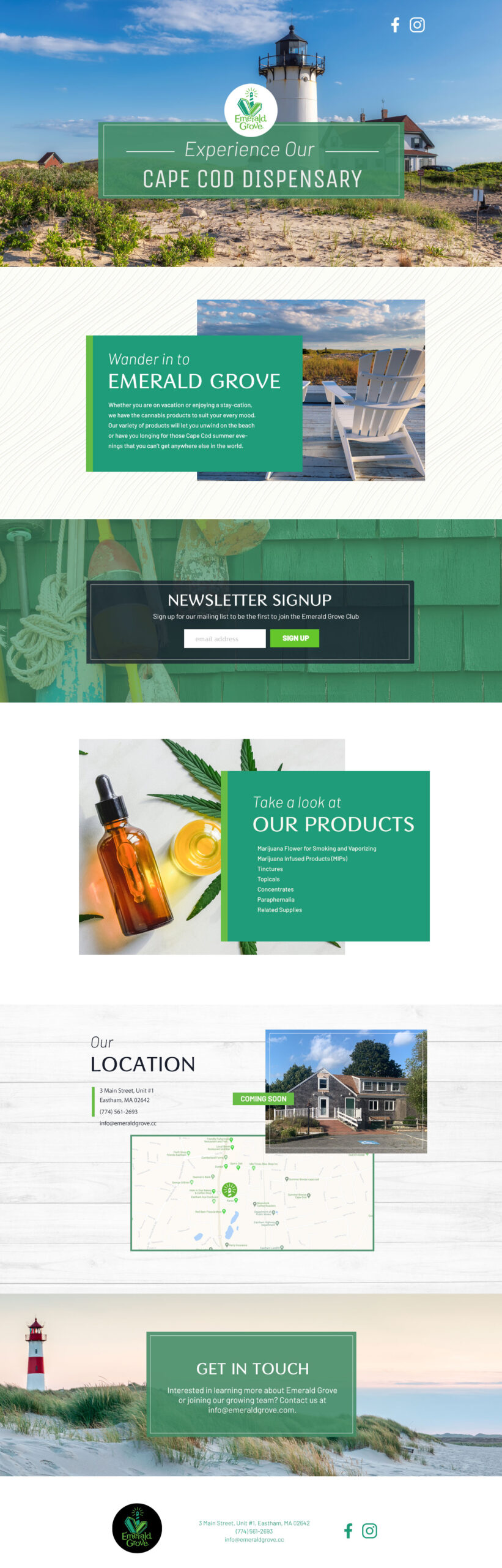Emerald Grove Landing Page