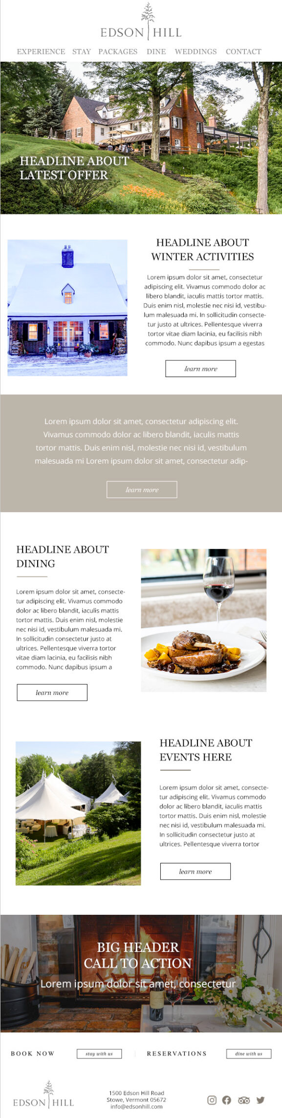 Edson Hill Email Template